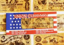 American Civil War Union Replica Currency Money Parchment Banknotes 1st Set