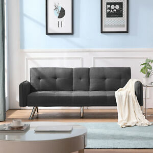 Modern Living Room Sleeper Sofa Bed Couch Pull Out Futon Daybed Recliner Chair