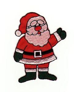 Ag82 Santa Claus Sew-On Iron-On Patch Christmas Children DIY
