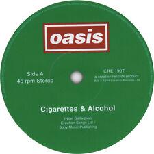 OASIS record label vinyl stickers. Definitely Maybe, Wonderwall, Live Forever