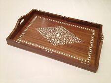 Indian Inlaid Handmade Rosewood Tray Christmas Gift