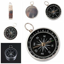 Silver Portable Pocket Compass for Camping Hiking Outdoor Sports Navigation Pop.