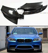 PAIR REAL CARBON FIBER FRONT BUMPER SPLITTERS LIP KIT FOR 2012-2015 BMW F10 M5