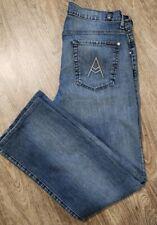 "7 Seven For All Mankind ""A"" Pocket Blue Jeans BOOTCUT Denim Pants 34 Bottoms"