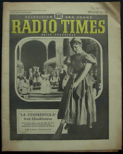 Radio Times Anna Maria Rota Glyndebourne La Cenerentola 1959 Magazine