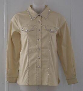 Bob Mackie Beaded Cotton Jean Jacket Size S- Butter