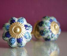 Vendita 1 Art Nouveau Blu Guardaroba Armadietto Armadio Cassetto petto Maniglia Della Porta Manopola
