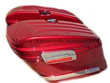 HL Motorcycle Hard Saddlebags Bags Burgundy Red for Yamaha Honda Suzuki Kawasaki