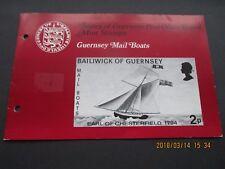 GUERNSEY 1972 PRESENTATION PACK GUERNSEY MAIL BOATS, U/MINT, SEE SCANS