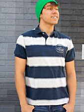 DITCH PLAINS Navy & Gray Polo Size S 100% Cotton