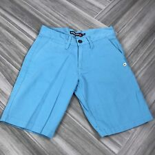 Quicksilver Boys Baby Blue Casual Shorts Size 28 Side Pockets Knee Length, $59