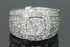 10K SOLID WHITE GOLD 2.85 CT REAL DIAMOND WOMEN BRIDAL WEDDING ENGAGEMENT RING