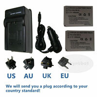 2X Battery +charger for Canon NB-5L IXUS 950 IS 960 IS IXUS 970 IS 980 IS 990 IS