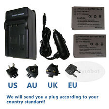2pk NB-5L Battery&charger for Powershot SX200 SX210 IS CANON Digital Camera