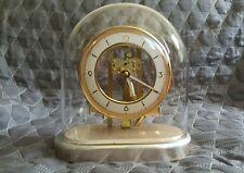 Rare Pendule art deco sous cloche de verre leon hatot ATO