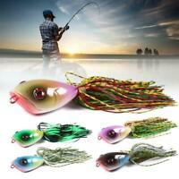 Silicone Popper Artificial Fishing Skirt 10cm 10.5g Lures For Fish Fishing B8U6