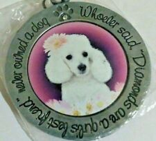 Purse Accessory With Inscription Adorable Dog Poodle Keychain Or