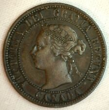 1901 Copper Canadian Large Cent Coin 1-Cent Canada VF #18