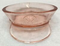 Antique Vintage Military Pink Hat Police Cap Eagle Depression Glass Candy Dish