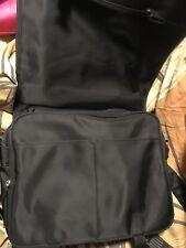 GUESS Black Nylon Messenger Laptop Crossbody Shoulder Work Business Bag Unpadded
