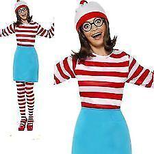 Smiffys Where's Wally? Wenda Costume - Female - Red&Whte - UK Dress 4-6