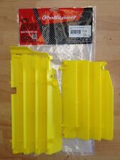SUZUKI RMZ 250  RM250Z 2010-2017 POLISPORT RADIATOR LOUVRES RAD GUARDS YELLOW