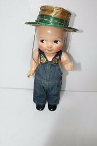 Buddy Lee Composition Doll with Overall Denim & Straw Hat, Lee Jeans Advertising