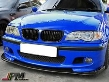 For 99-06 E46 M-Tech 3-Series Only Carbon Fiber HM Type Front Bumper Add-on Lip