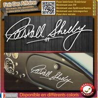stickers Autocollant signature Carroll Shelby FORD COBRA MUSTANG AC decal