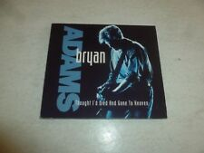 BRYAN ADAMS - Thought I'd Died And Gone To Heaven - Deleted 1991 UK 3-track CD
