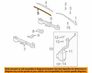 ( 1 ) GENUINE GM SATURN 22715490  Front Wiper Blade 2 Insert Set  2003-2007 Ion