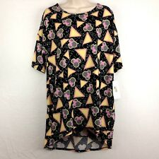 LulaRoe Irma Shirt M Tunic Top Disney Minnie Mouse Triangle Black Yellow NWT