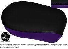 BLACK & PURPLE VINYL CUSTOM FOR YAMAHA XVS 650 CLASSIC V STAR REAR SEAT COVER