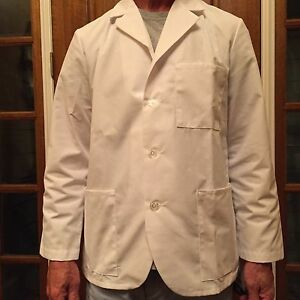 "Men's Meta White Consult Jacket Poly/Cotton Length 29"" $11.00 Size: XL,& 2XL"