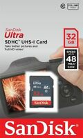 SanDisk 32GB Ultra Class 10 UHS-I SD 48MB/s Full HD Video SDHC card FREE UK POST