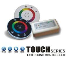 SET 2.4G RGB LED Round Touch Remote Fernbedienung Controller für Stripe 3x6A 18A