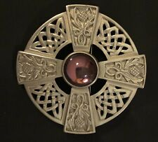 Vintage Ortak Scotland Pewter Thistle Brooch/Pin