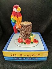 """It's 5 o'clock Somewhere"""" Ceramic Parrot Water Fountain New/Old Stock   Mis-7"""