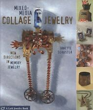 BK184 MIXED-MEDIA COLLAGE JEWELRY by Schuster Soft Cover Book New in Shrink Wrap