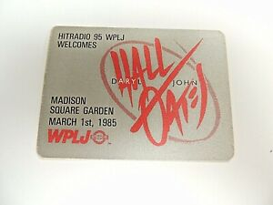 """""""Hall & Oates"""" WPLJ Radio Concert Sticker March 1st, 1985 MSG/Mint"""