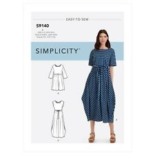 Simplicity Misses' Relaxed Pullover Dress R10599 (S9140) Size (XXS - XXL)