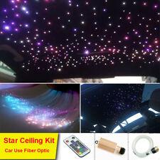 9W Car LED Light Fiber Optic Star Ceiling Kit RGB Remote 0.75mm*2m 450 Strands