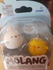2-Pack Molang and piu piu Finger Puppets Figures by tomy