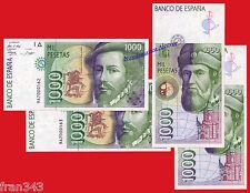PAREJA 1000 pesetas 1992 HERNAN CORTES Serie 9A SC