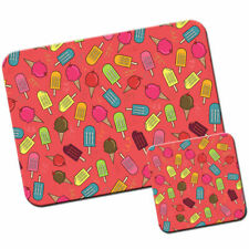 Colourful Ice Cream Cones & Lollies Mouse Mat / Pad and Coaster Set