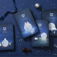 """Moonlight"" 1pc Hard Cover Black Papers Diary Notebook Journal Sketchbook Gift"