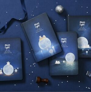 """""""Moonlight"""" 1pc Hard Cover Black Papers Diary Notebook Journal Sketchbook Gift"""