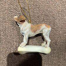 Olde English Bulldog Realistic Artistic Dog Canine Ornament
