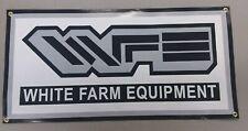 "WHITE FARM EQUIPMENT BANNER - 24"" X 12"""