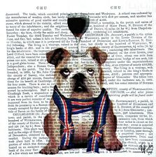 4 Lunch Paper Napkins for Decoupage Party Table Craft Vintage British  Bulldog
